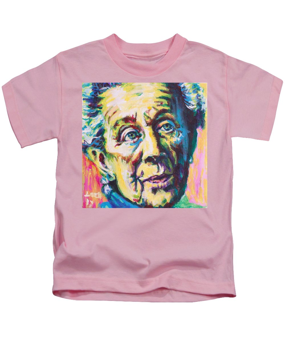 Helen Suzman Kids T-Shirt featuring the painting Helen by Larry Ger