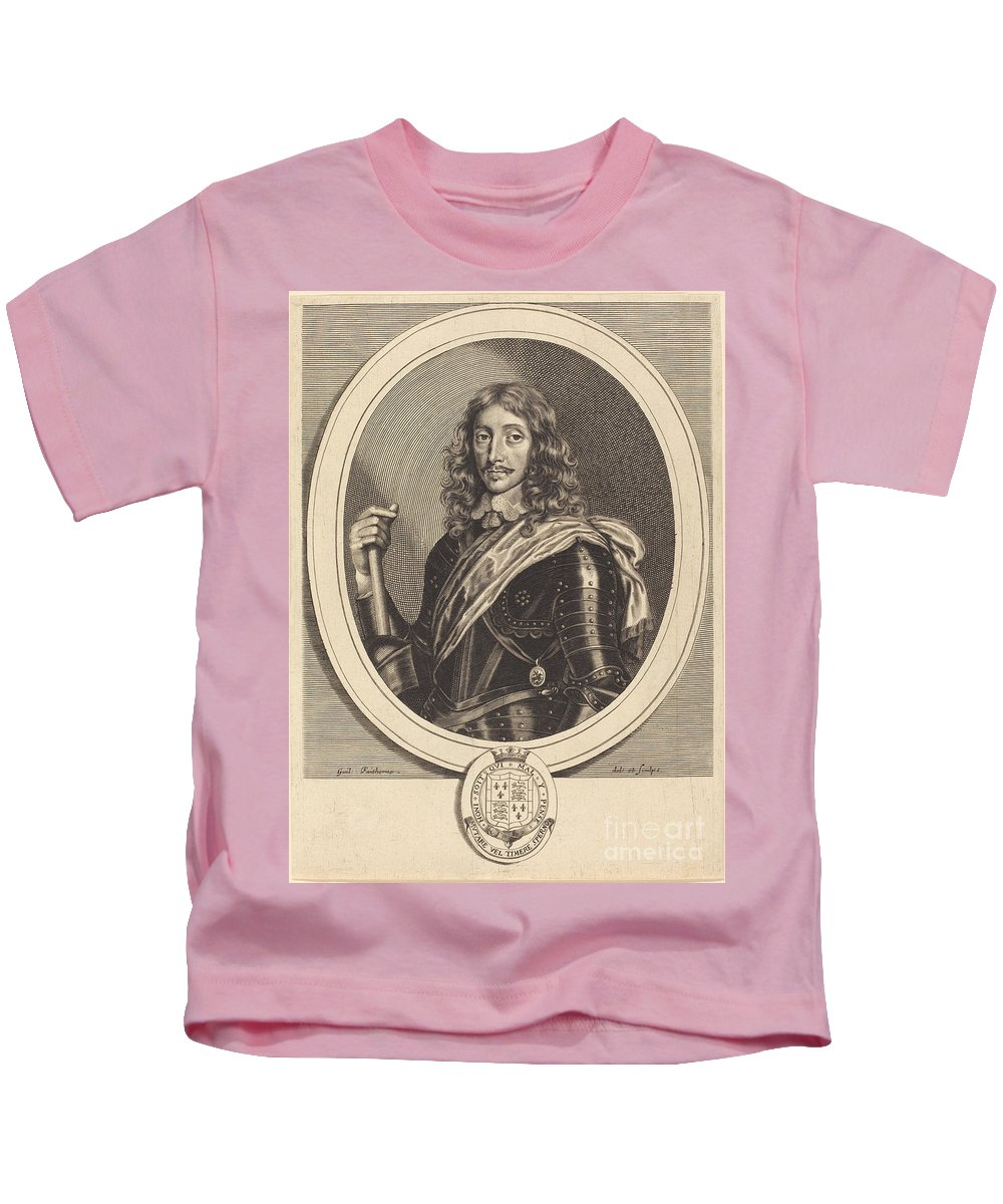 Kids T-Shirt featuring the painting Henry Somerset, 1st Duke Of Beaufort, K.g. by William Faithorne