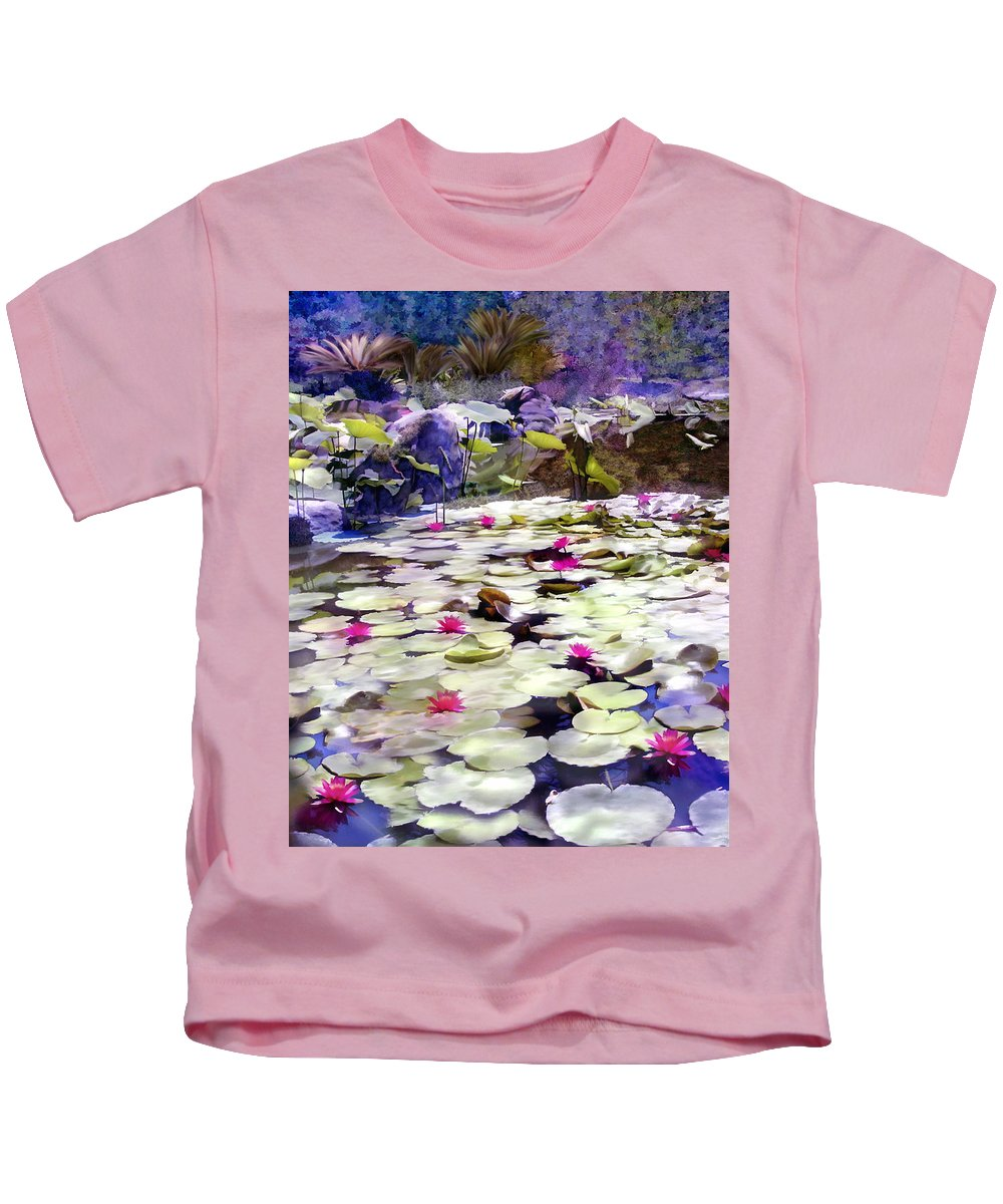 Lotus Kids T-Shirt featuring the photograph Hidden Pond Lotusland by Kurt Van Wagner