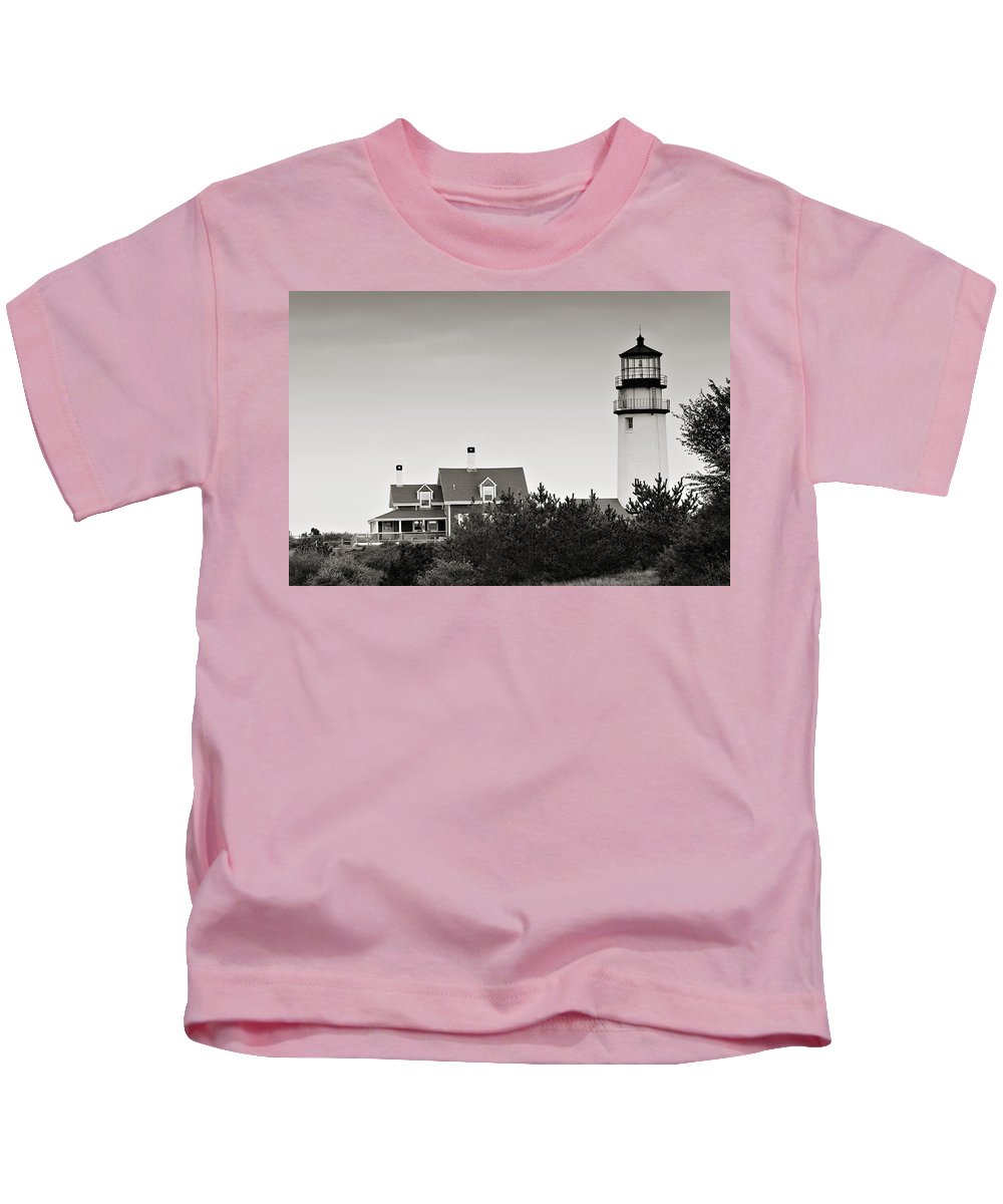 Lighthouse Kids T-Shirt featuring the photograph Highland Light At Cape Cod by Renee Hong