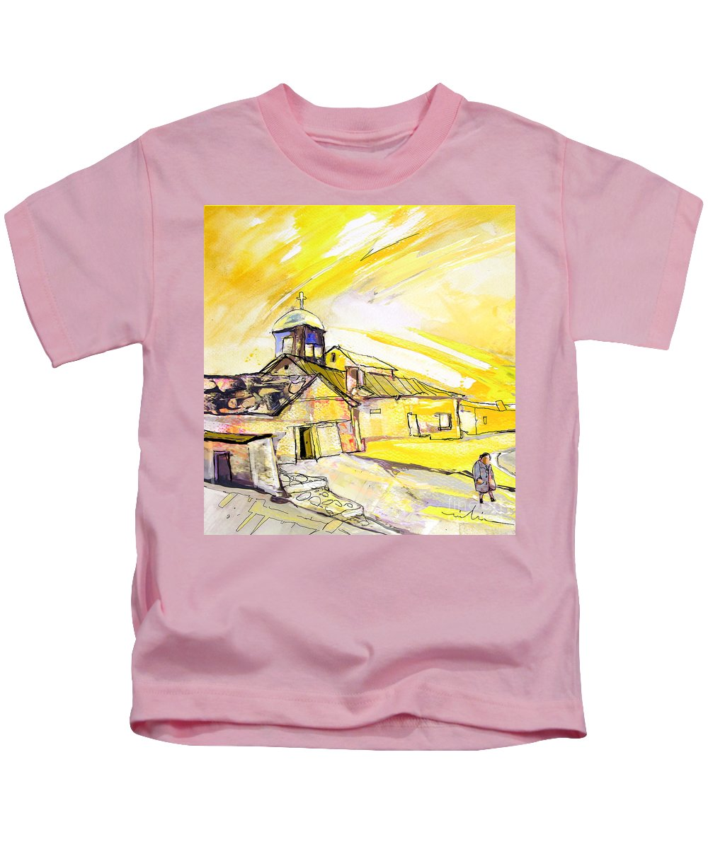 Fantasy Kids T-Shirt featuring the painting I Am Leaving Spain Now by Miki De Goodaboom