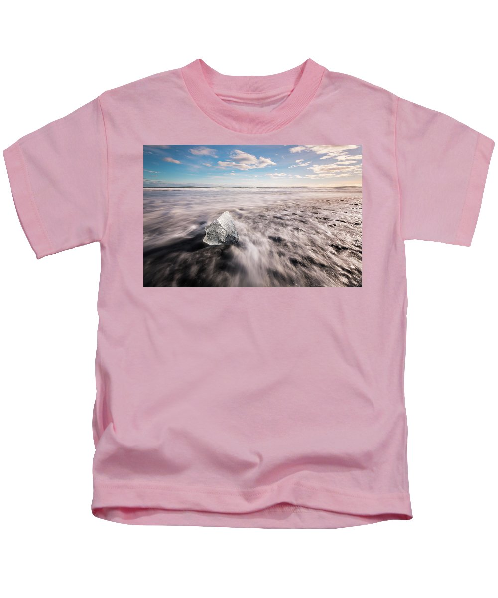 Glaciers Kids T-Shirt featuring the photograph Iceland And Glaciers by Jean-Claude Ardila