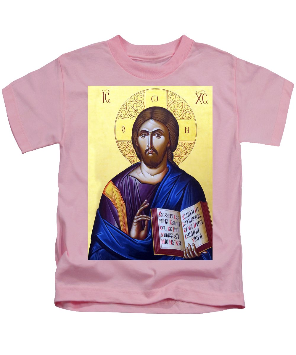 Icon Of Christ Kids T-Shirt featuring the photograph Icon Of Christ In Jericho by Munir Alawi