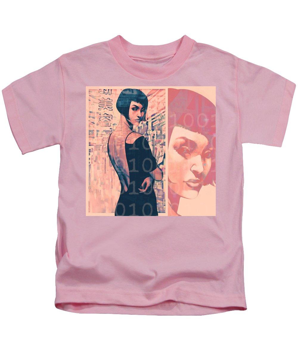Pop Art Kids T-Shirt featuring the painting Idoru 2 by Udo Linke