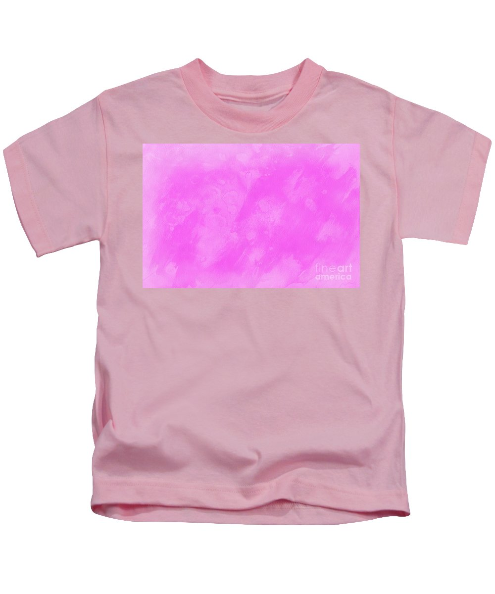 Abstract Kids T-Shirt featuring the photograph In A Pink Mood by Krissy Katsimbras