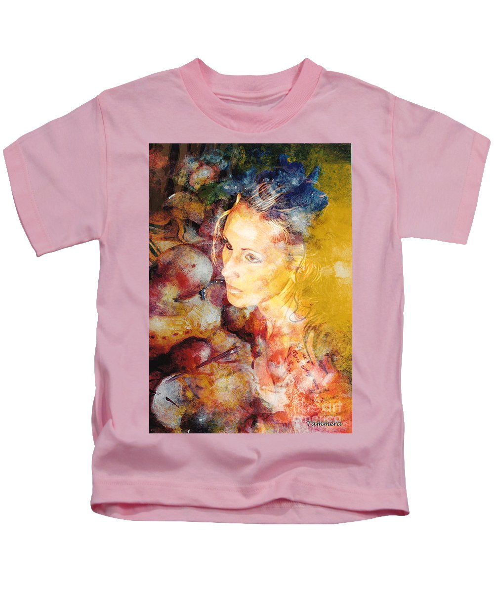 Woman Kids T-Shirt featuring the mixed media In Dreams by Tammera Malicki-Wong
