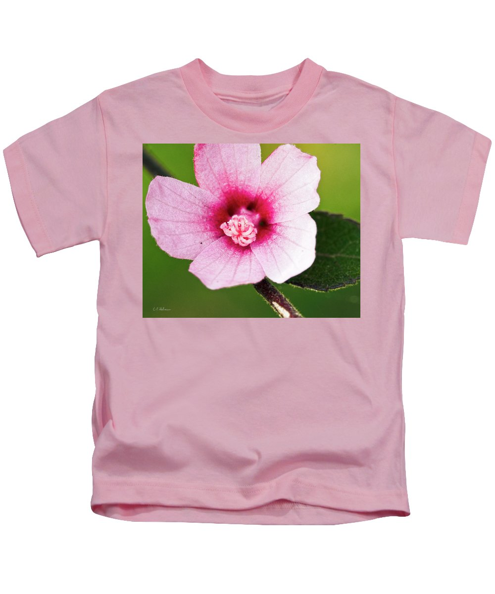 Pink Kids T-Shirt featuring the photograph In The Pink by Christopher Holmes