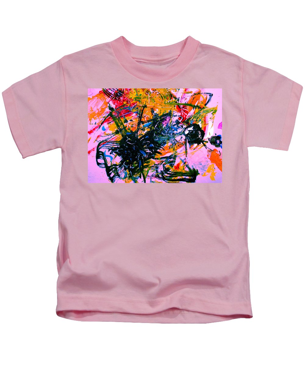 Abstract Kids T-Shirt featuring the painting Intrigue by Natalie Holland