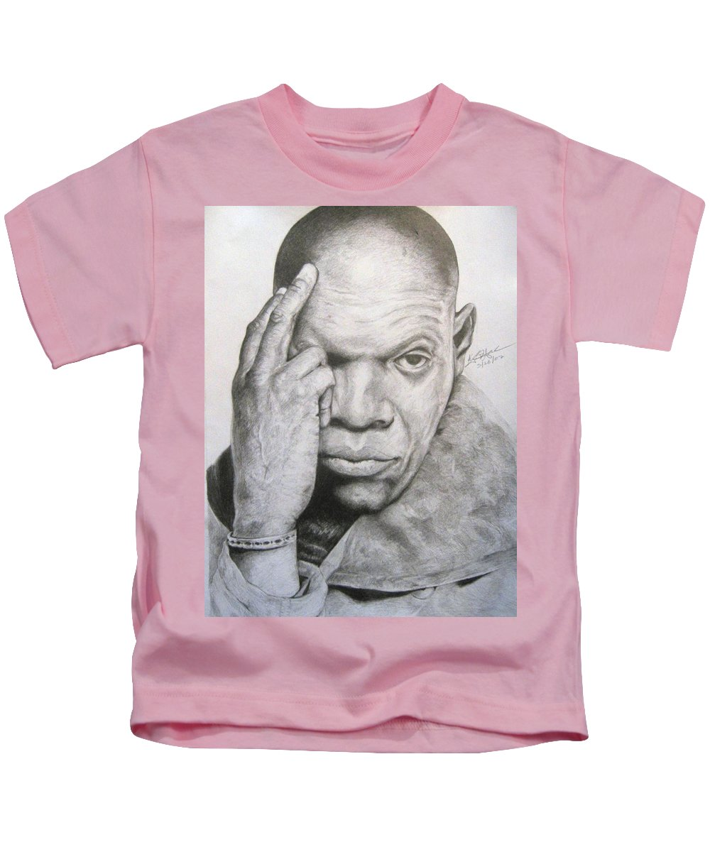 Portrait Kids T-Shirt featuring the drawing Jackson By Kyle Anderson by Joyce Owens