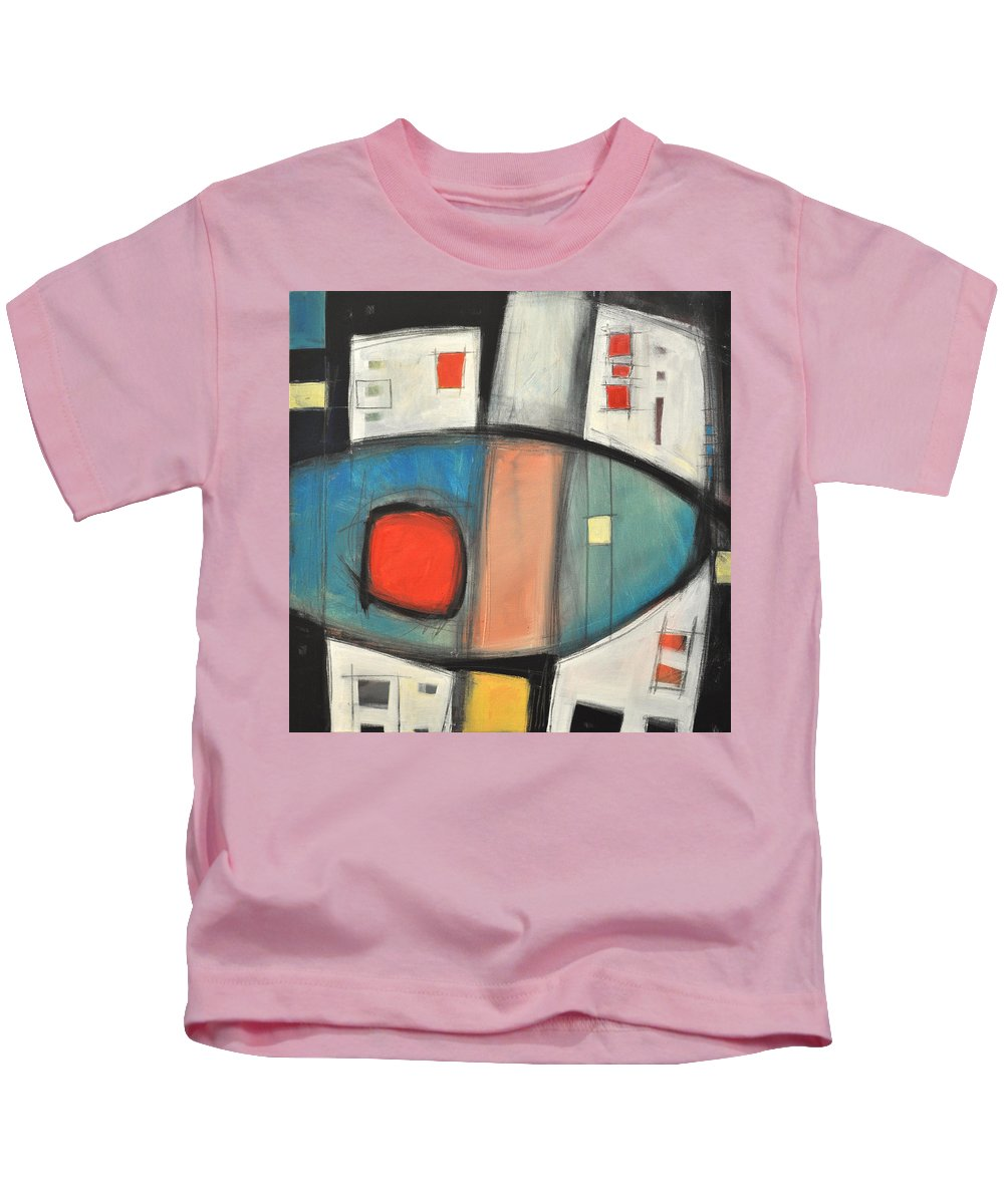 Abstract Kids T-Shirt featuring the painting Jazz Improv 081510a by Tim Nyberg
