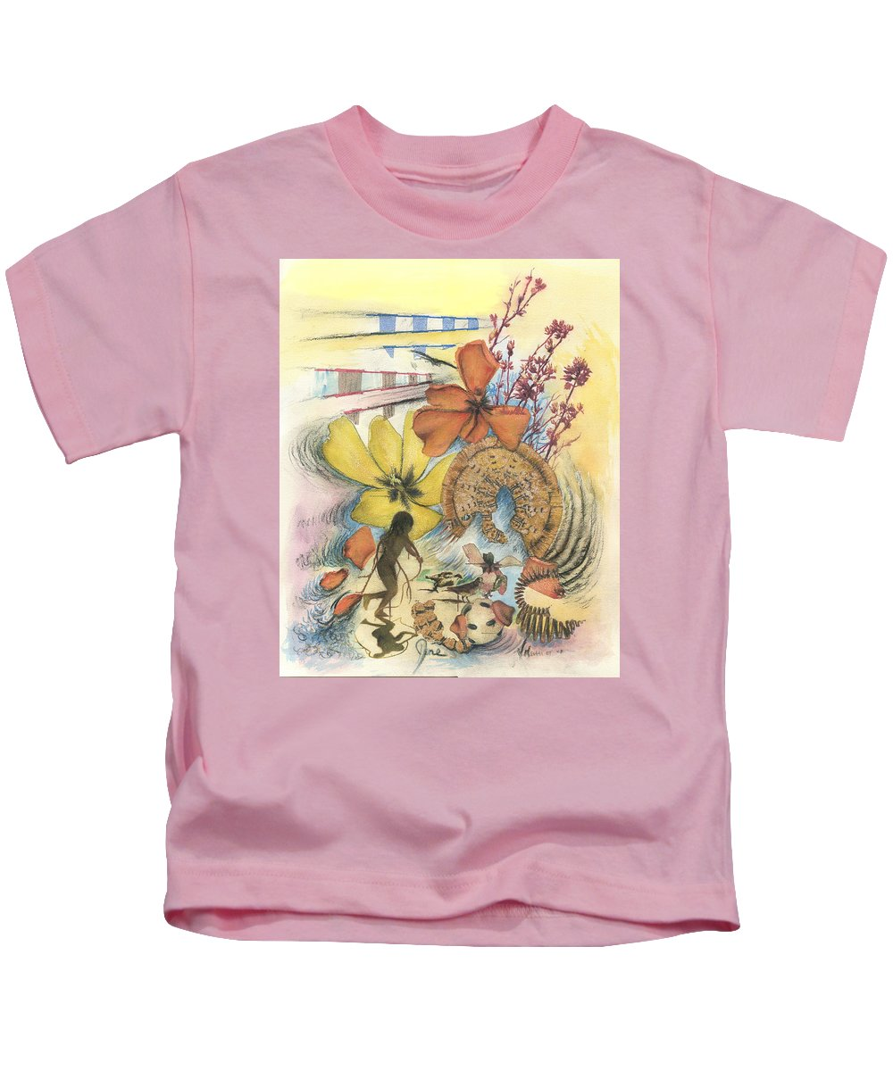 Abstract Kids T-Shirt featuring the digital art June by Valerie Meotti