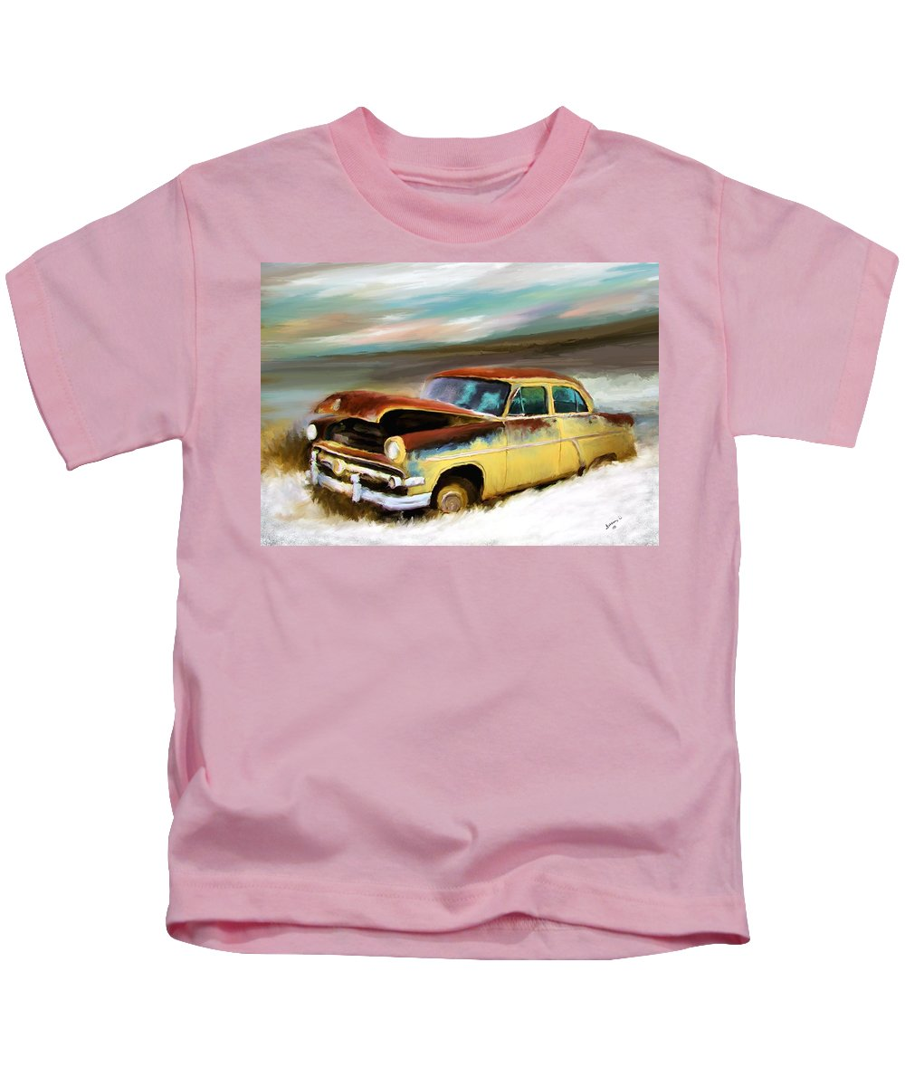 Digital Art Kids T-Shirt featuring the painting Just Needs A Paint Job by Susan Kinney