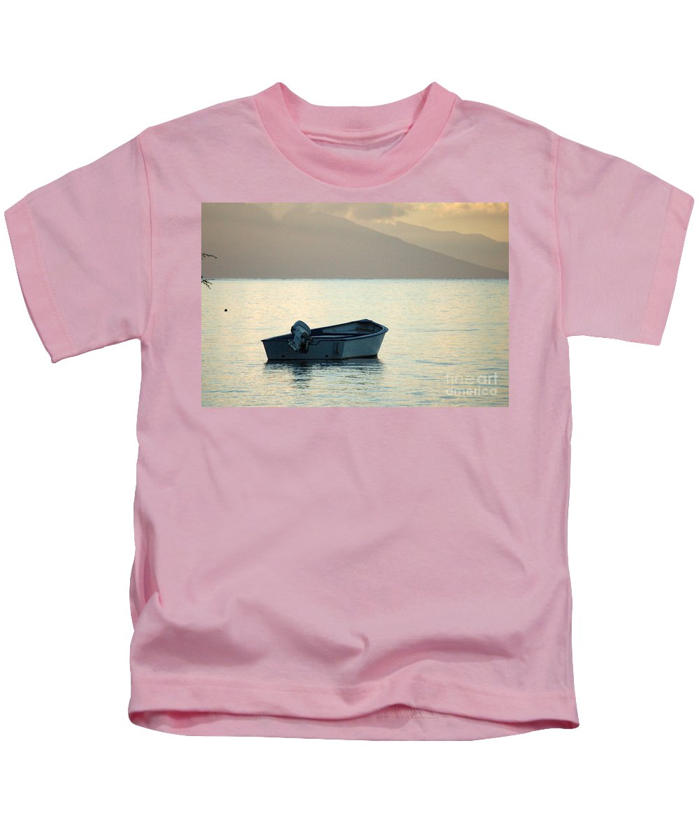 Boat Kids T-Shirt featuring the photograph Just Off Molokai by Terry Holliday
