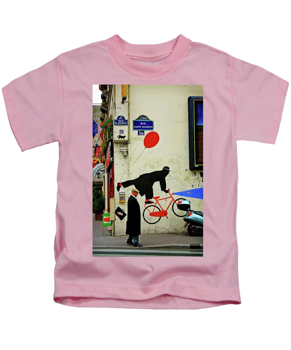 Paris Kids T-Shirt featuring the photograph Kick in the Head by Skip Hunt