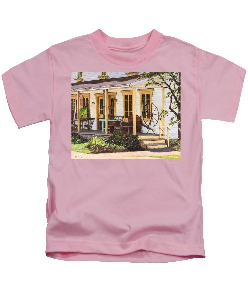 Urban Kids T-Shirt featuring the painting Knowlton Lac Brome by Richard T Pranke