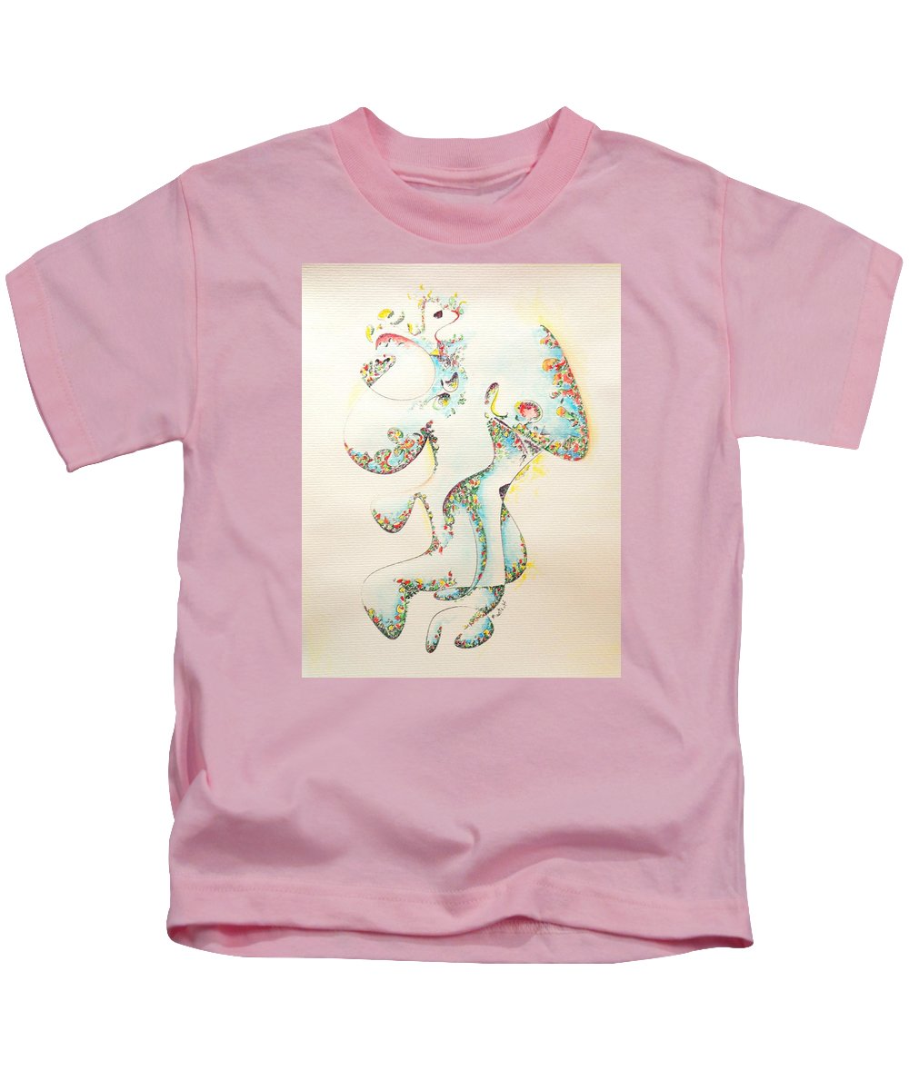 Fertility Kids T-Shirt featuring the painting Lapis Lazuli Bejeweled Fertility Goddess by Dave Martsolf