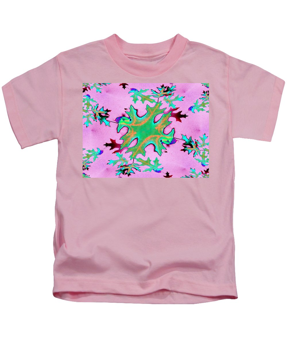 Leaf Kids T-Shirt featuring the photograph Leaves In Fractal by Tim Allen
