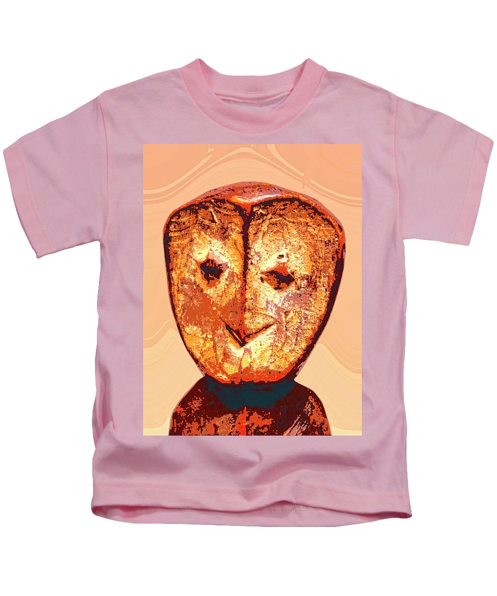 Africa Kids T-Shirt featuring the mixed media Lega Figure by Dominic Piperata