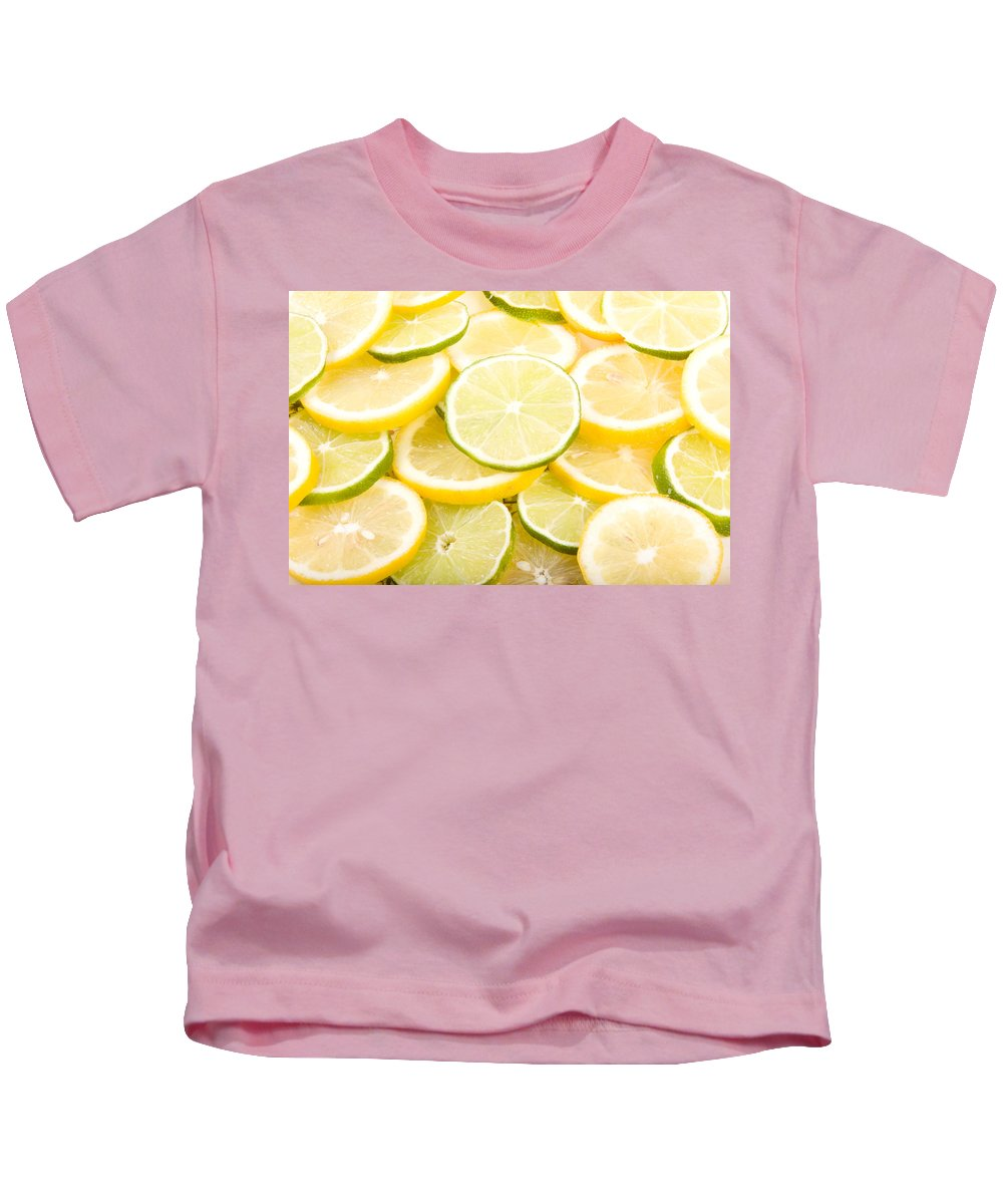 Abstracts Kids T-Shirt featuring the photograph Lemons And Limes Abstract by James BO Insogna