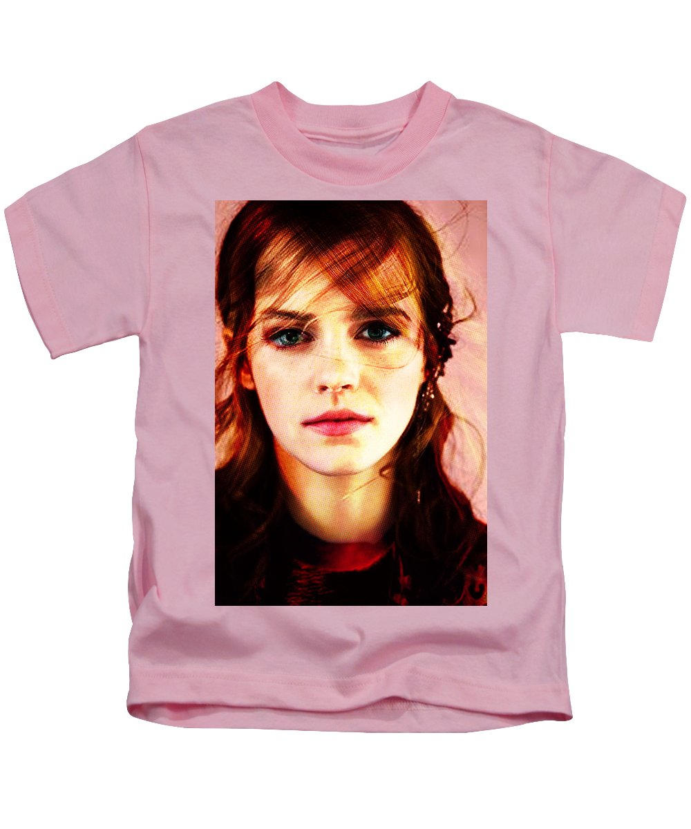 Kids T-Shirt featuring the painting Let Me Create You. by Maciej Mackiewicz