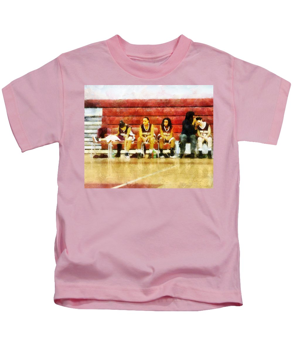 Bench Kids T-Shirt featuring the digital art Life On The Bench by Francesa Miller