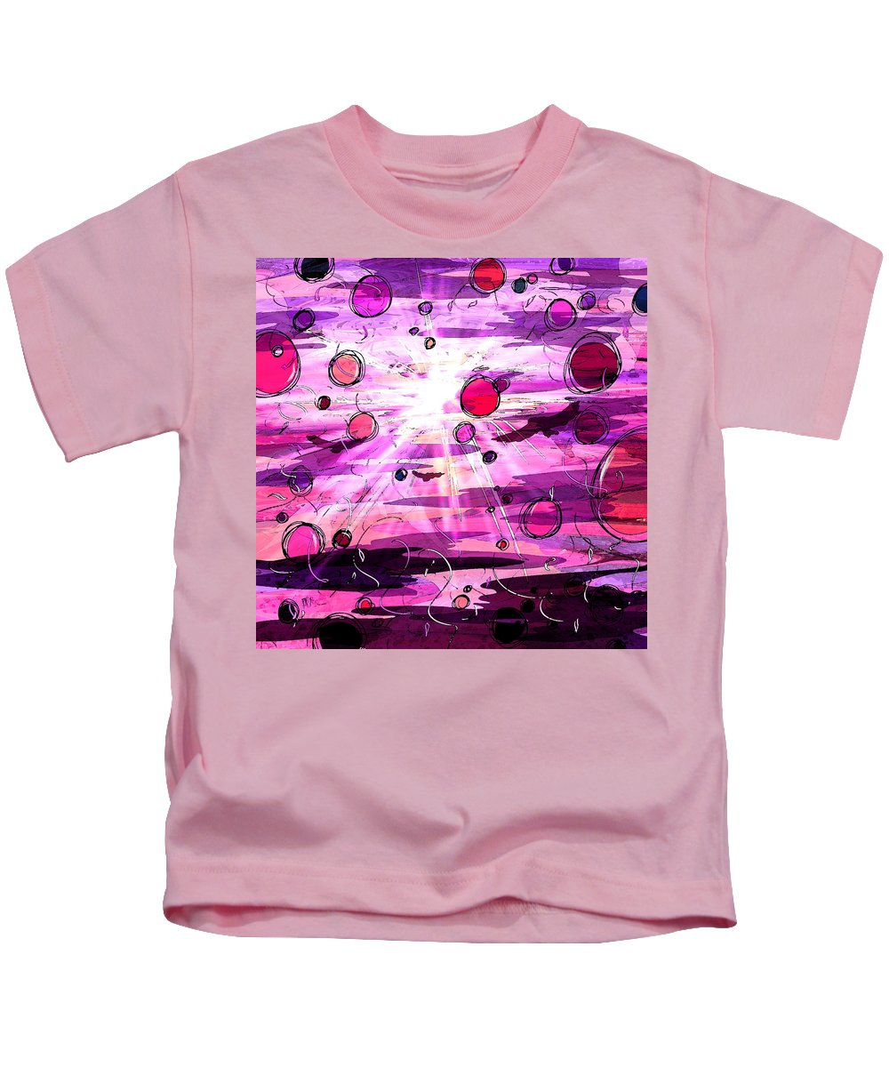 Abstract Kids T-Shirt featuring the digital art Light Of The World by Rachel Christine Nowicki