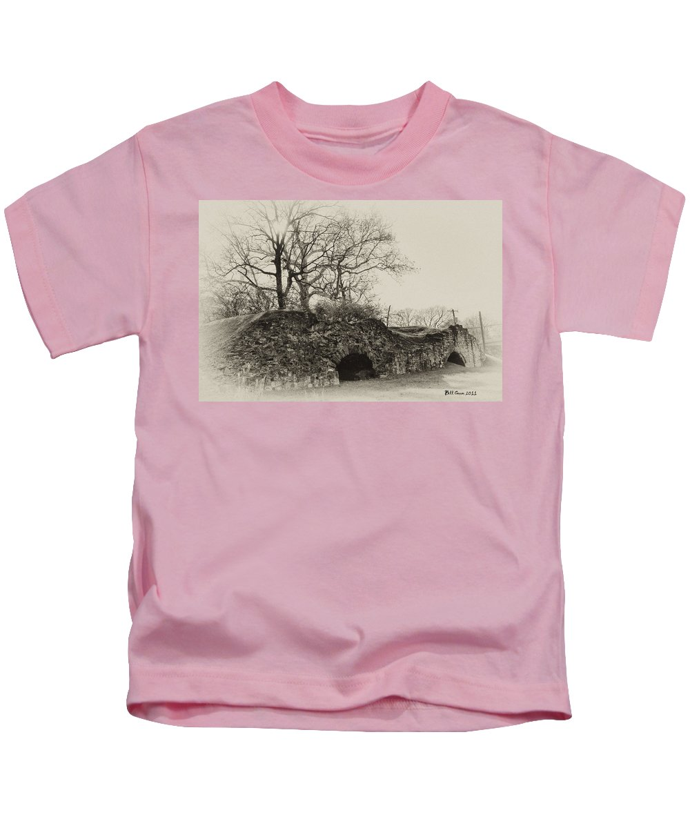 Lime Kilns Kids T-Shirt featuring the photograph Lime Kilns At Plymouth Meeting by Bill Cannon