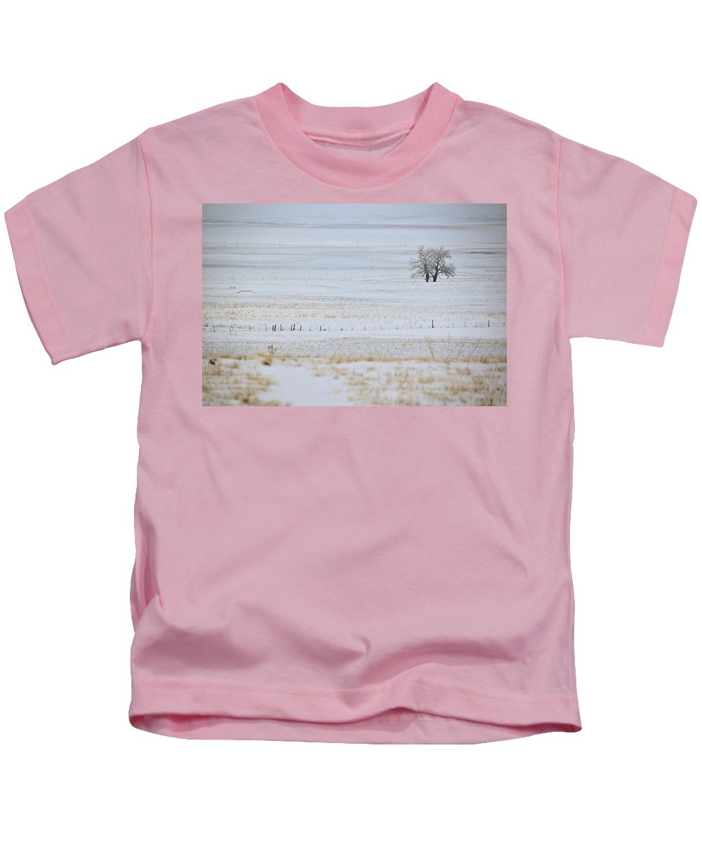 Field Kids T-Shirt featuring the photograph Lone Reflection by Kellie Prowse