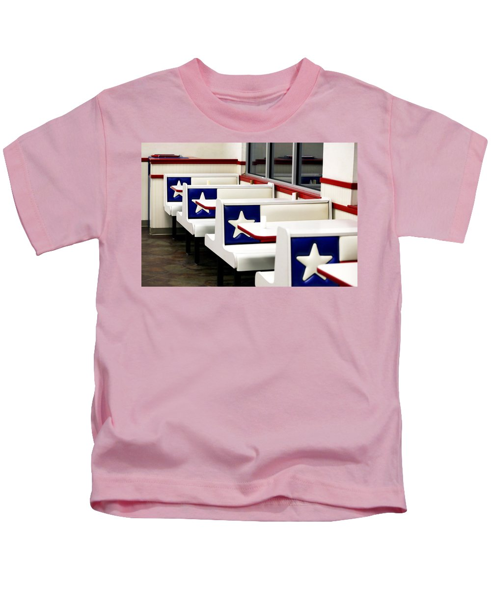 Americana Kids T-Shirt featuring the photograph Lone Star Dairy Queen by Marilyn Hunt