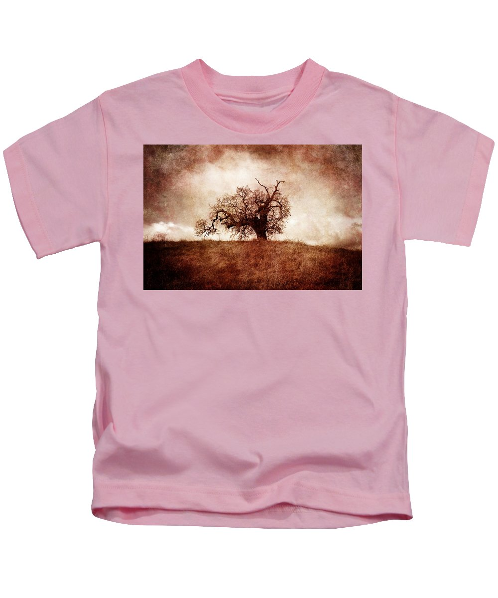 Photography Kids T-Shirt featuring the photograph Lost And Wandering by Laura Iverson