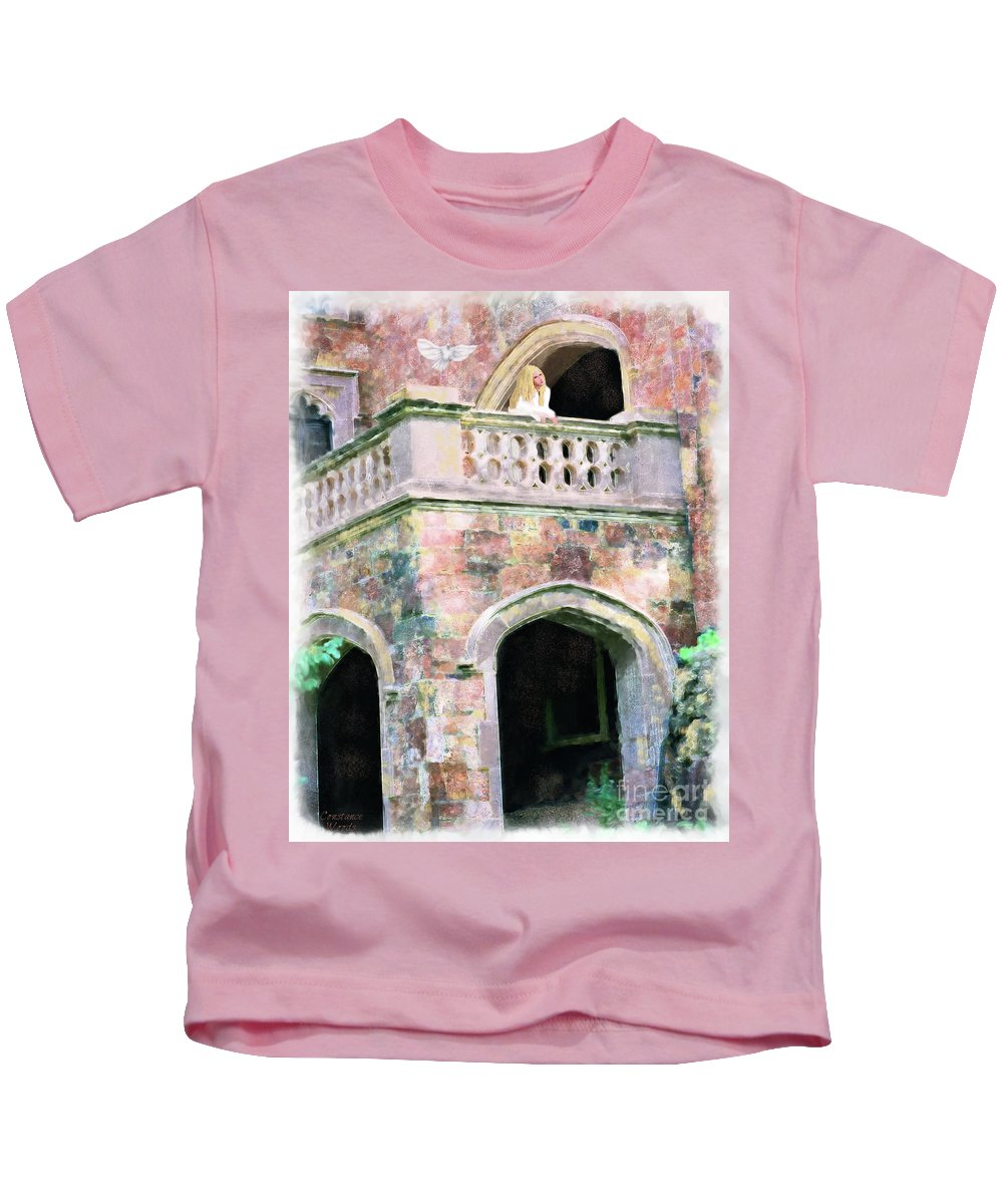 Bride Kids T-Shirt featuring the painting Lovesick Bride by Constance Woods
