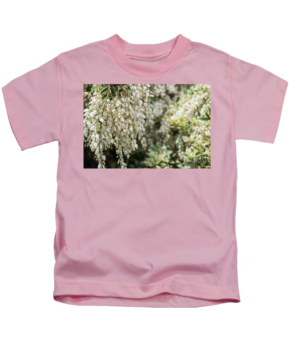 White Buds Kids T-Shirt featuring the photograph Low And To The Left by Edmund Mazzola