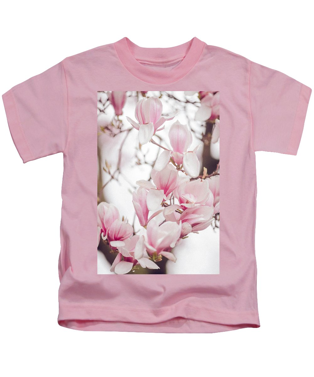 Magnolia Kids T-Shirt featuring the photograph Magnolia by Ella Protsenko