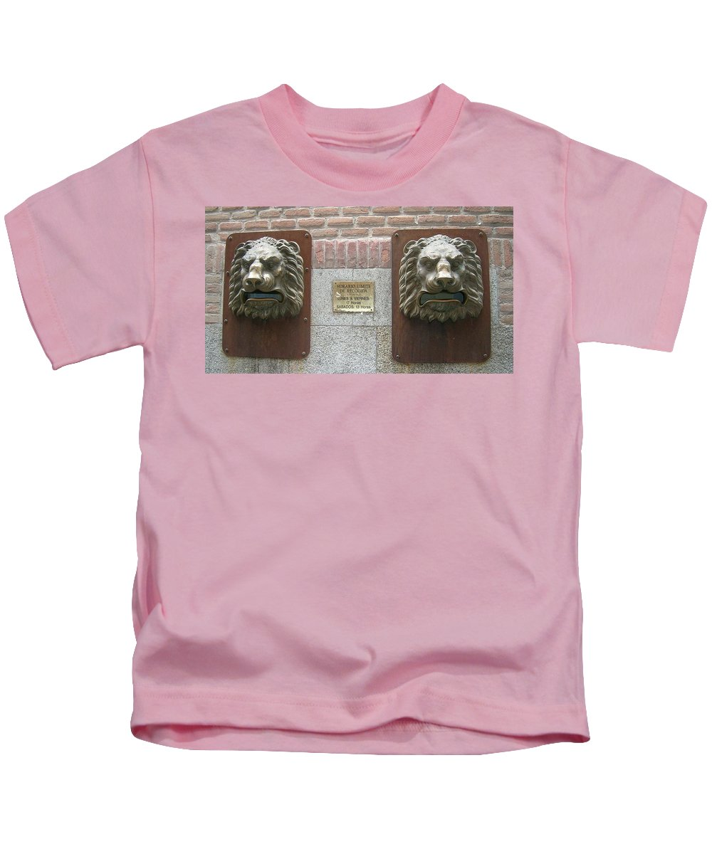 Mailbox Kids T-Shirt featuring the photograph Mailboxes In Toledo Spain by Valerie Ornstein