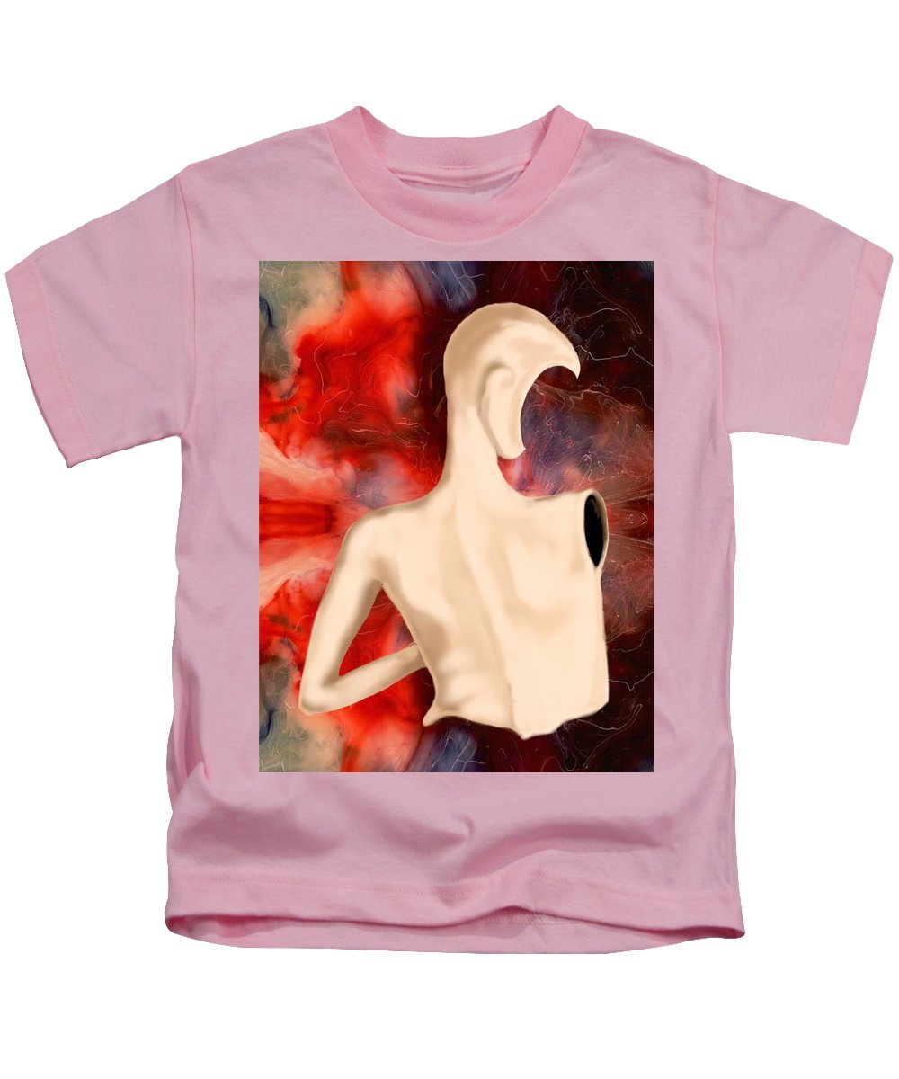 Woman Fashion Naked Surreal Abstract Kids T-Shirt featuring the digital art Manequin by Veronica Jackson