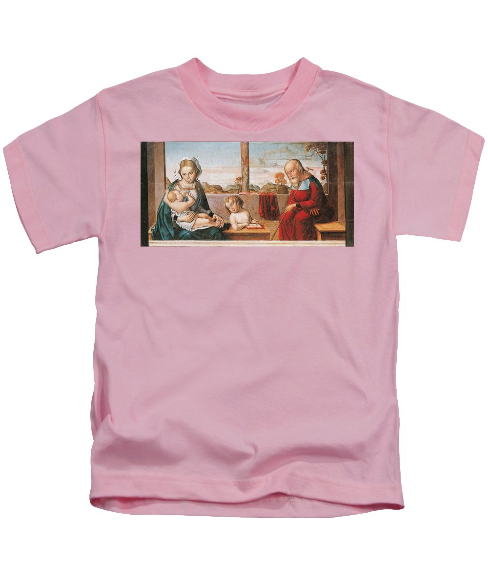Master Of Astorga (active In Castile) - 1530 Kids T-Shirt featuring the painting Master Of Astorga by MotionAge Designs