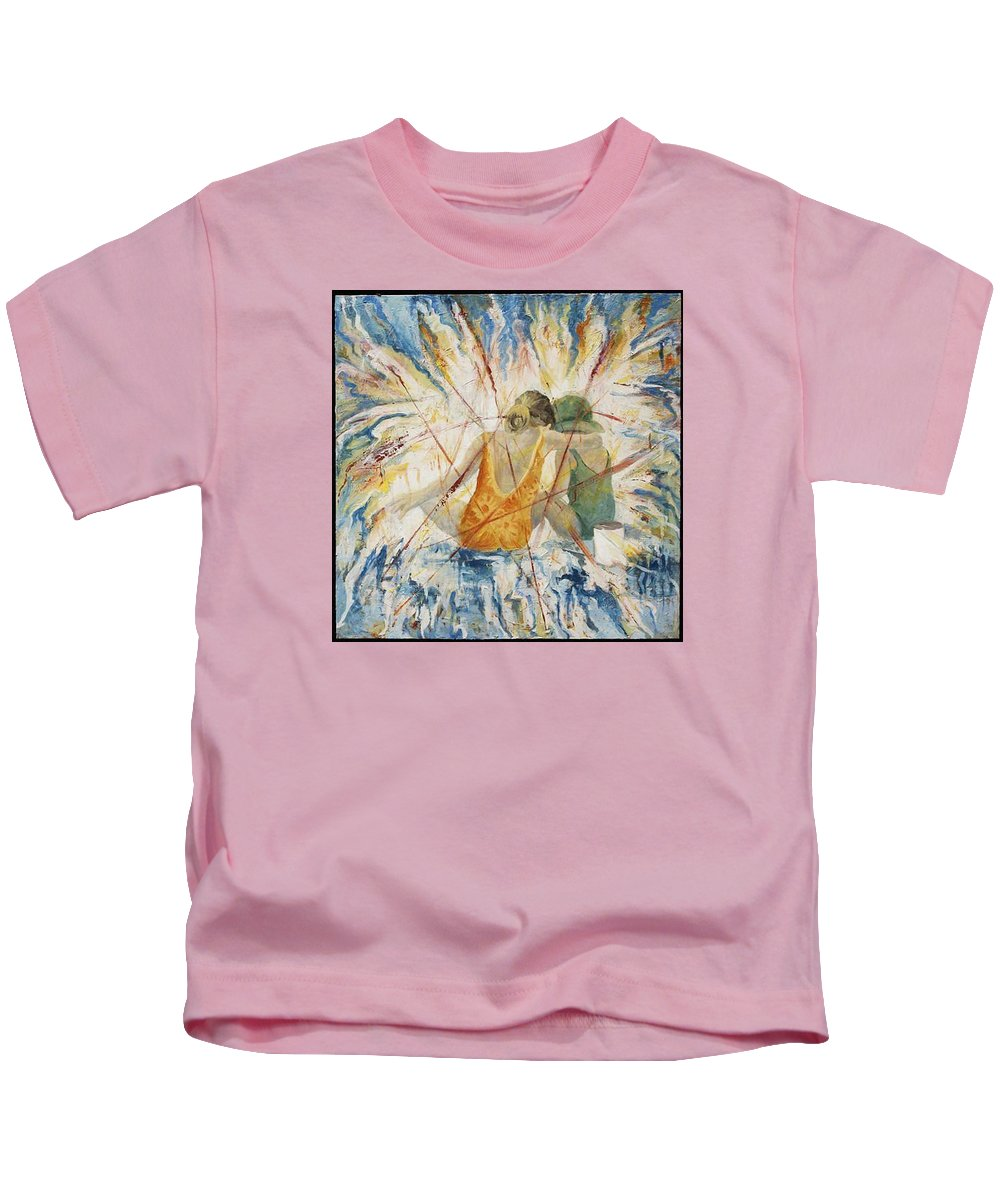 Children Kids T-Shirt featuring the painting Meltdown by Connie Freid
