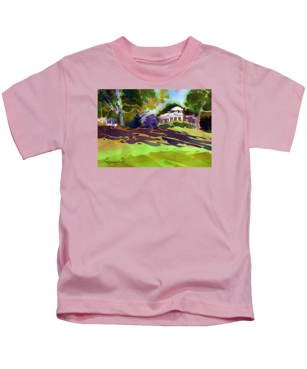 Thomas Jefferson Kids T-Shirt featuring the painting Monticello In October by Lee Klingenberg