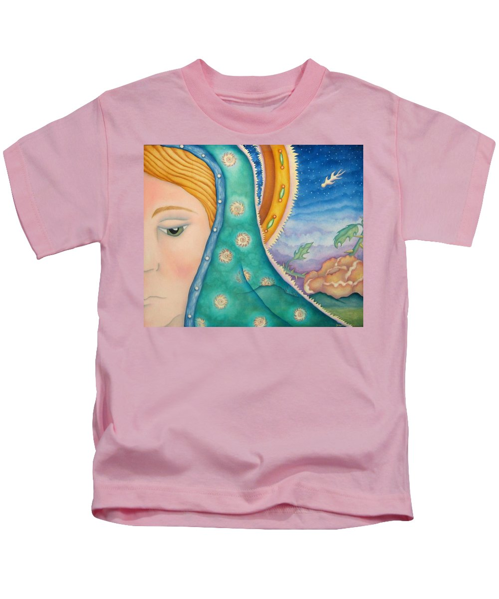 Texas Kids T-Shirt featuring the painting Mother Of My Soul by Jeniffer Stapher-Thomas
