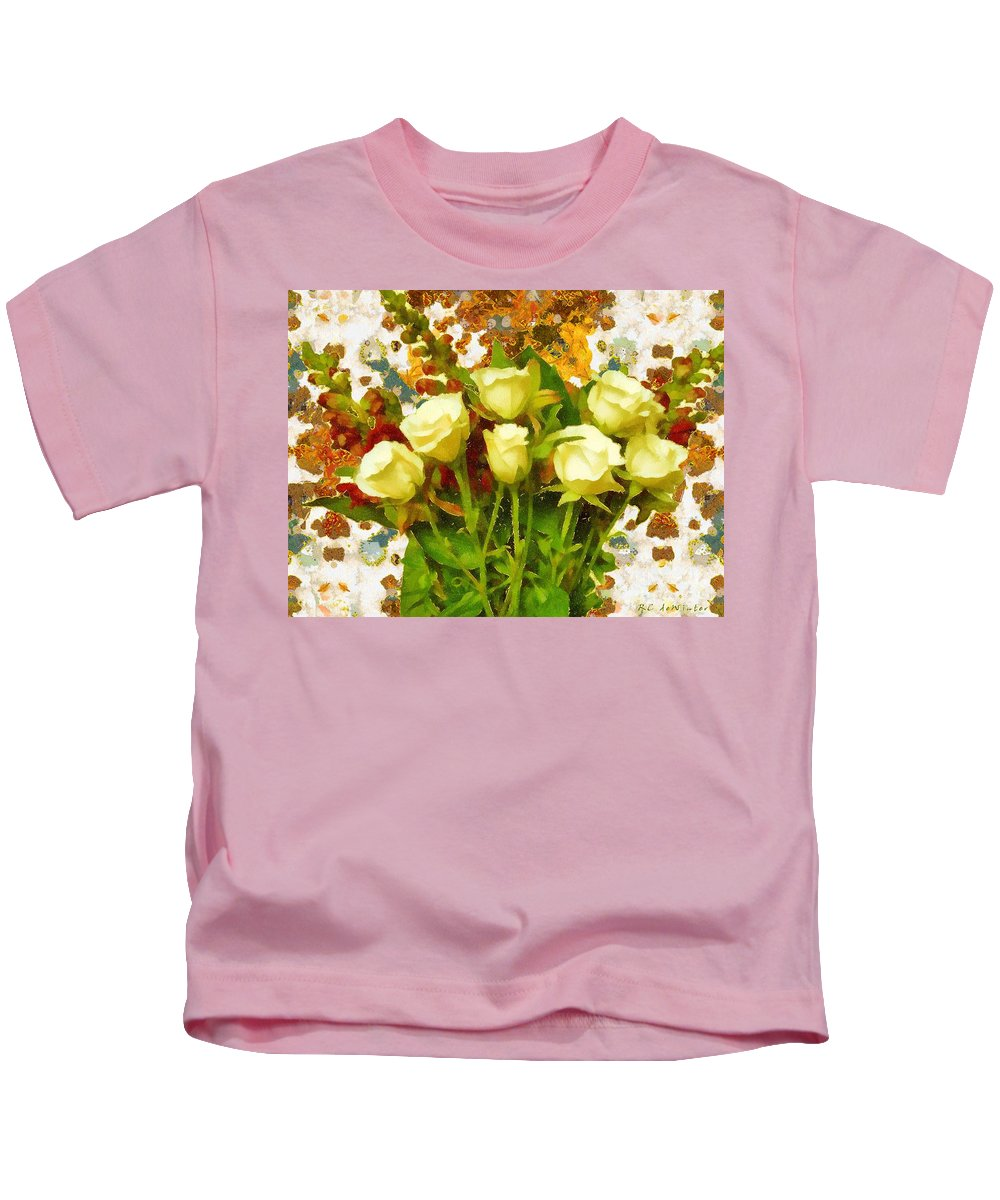 Roses Kids T-Shirt featuring the painting Mother's Day By Gustav by RC DeWinter