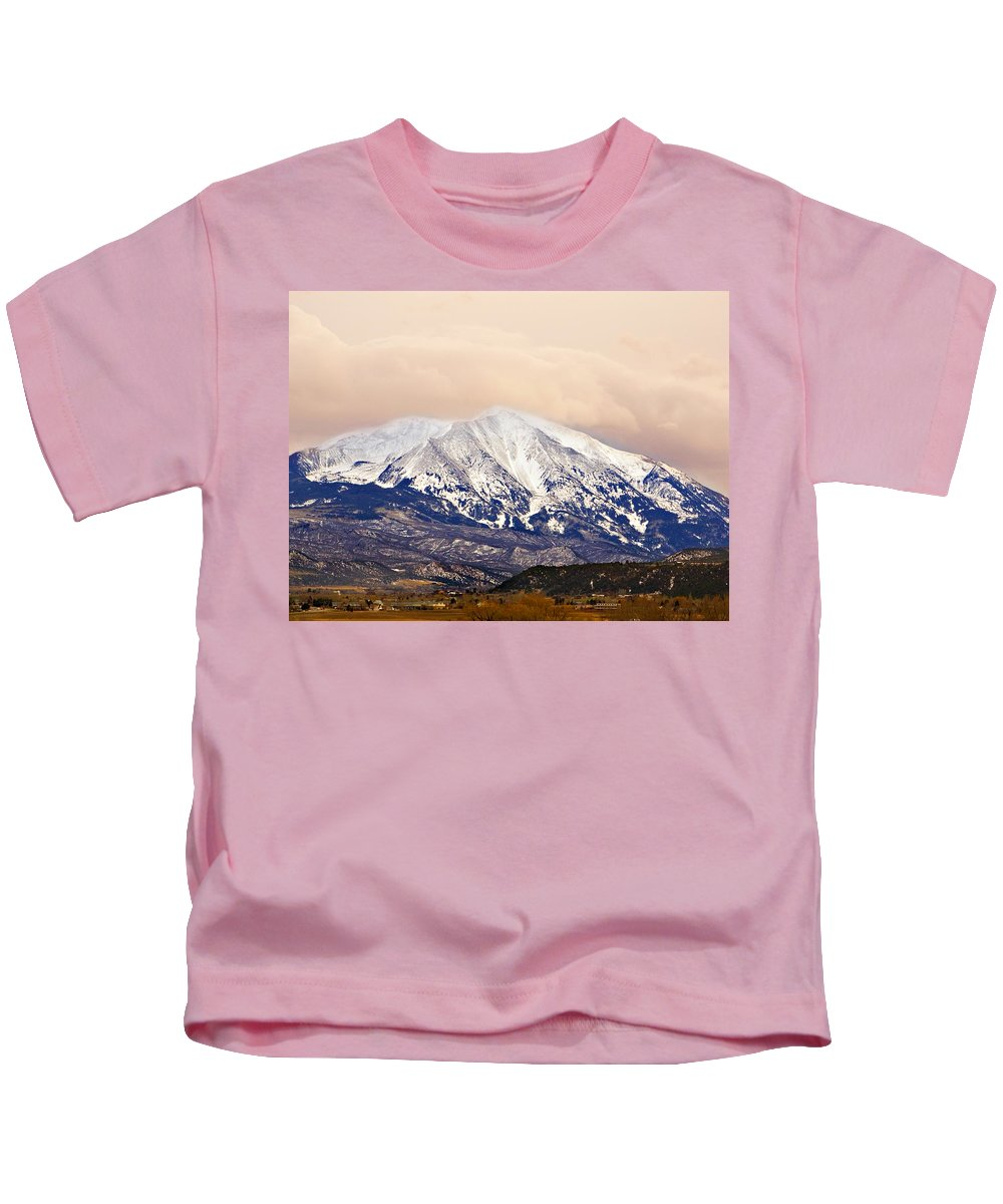 Americana Kids T-Shirt featuring the photograph Mount Sopris by Marilyn Hunt
