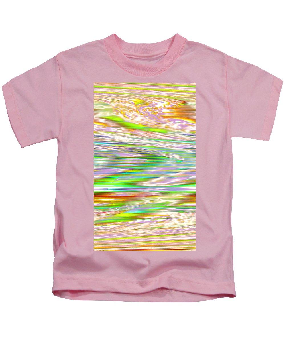 Moveonart! Digital Gallery Kids T-Shirt featuring the digital art Moveonart Ancient Future Dreaming by Jacob Kanduch