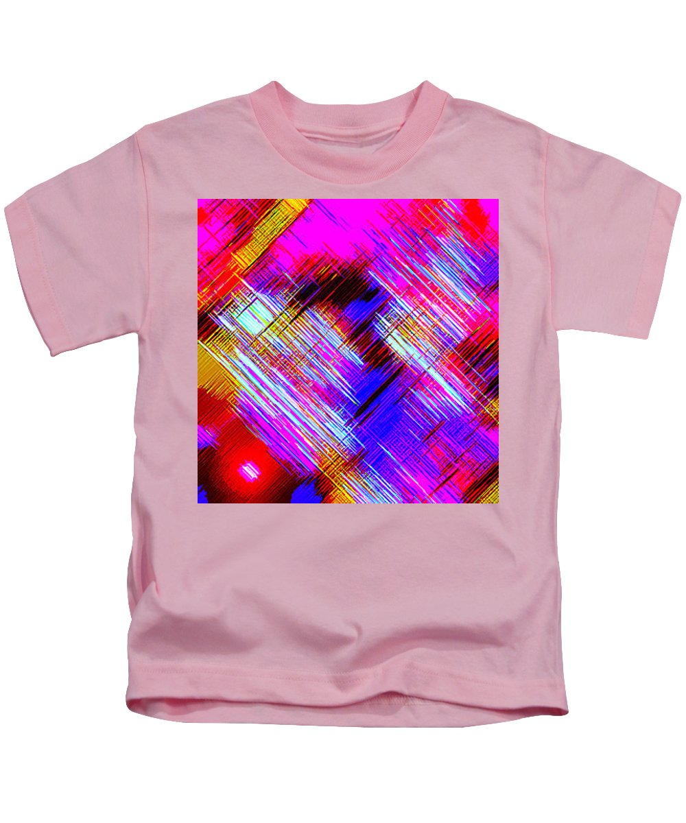 Moveonart! Digital Gallery Kids T-Shirt featuring the digital art Moveonart Colorful Fast Paced Evening by Jacob Kanduch