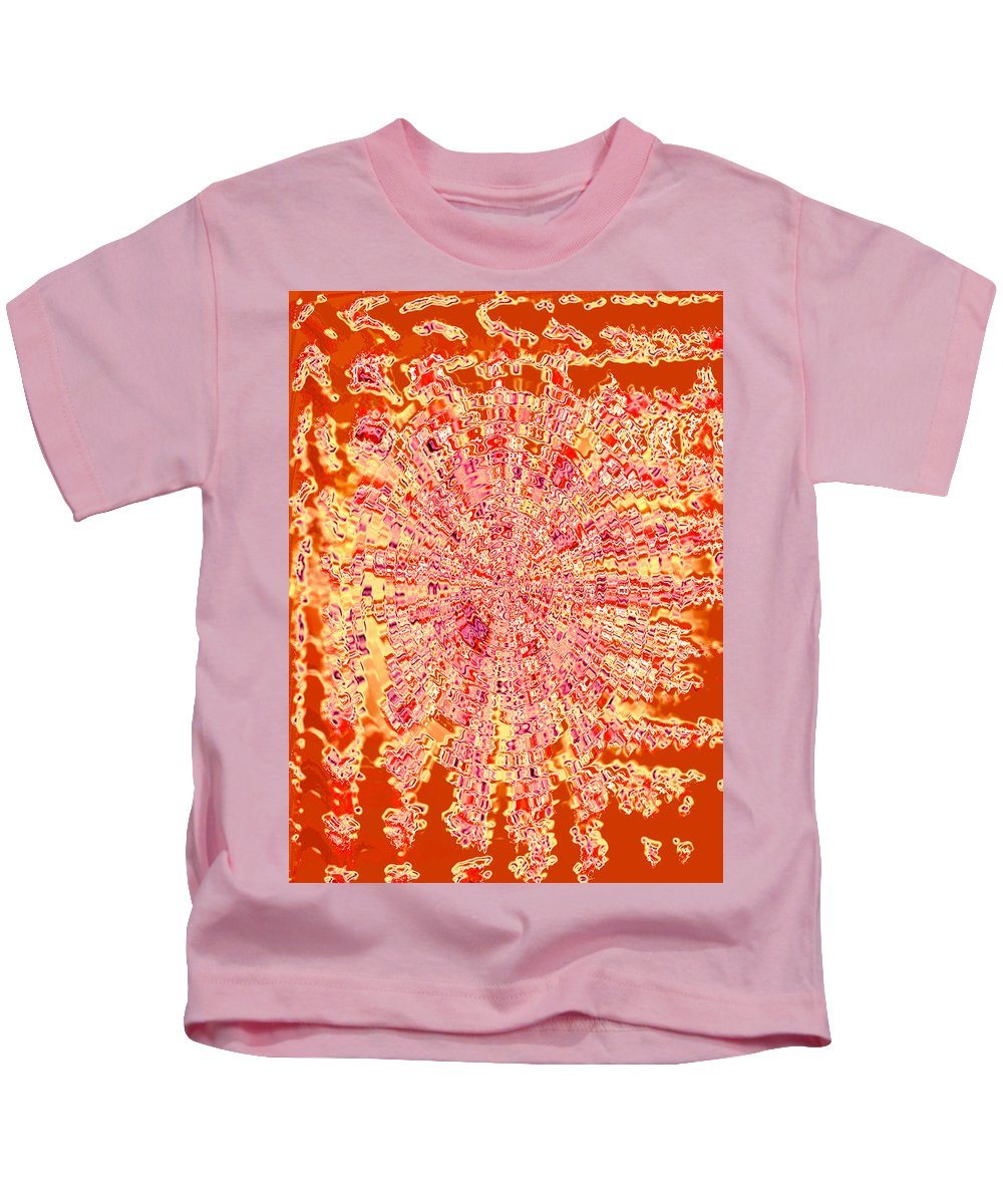 Moveonart! Digital Gallery Kids T-Shirt featuring the digital art Moveonart Intense Indian Fire Chant by Jacob Kanduch