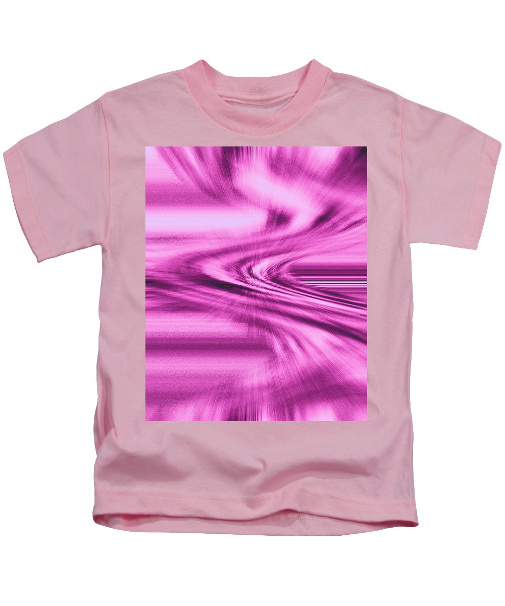 Moveonart! Digital Gallery Kids T-Shirt featuring the digital art Moveonart Intensity Of Anticipation by Jacob Kanduch