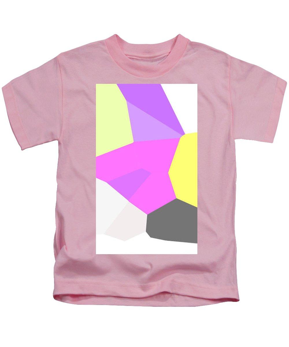 Moveonart! Digital Gallery Kids T-Shirt featuring the digital art Moveonart Just Minimal One by Jacob Kanduch