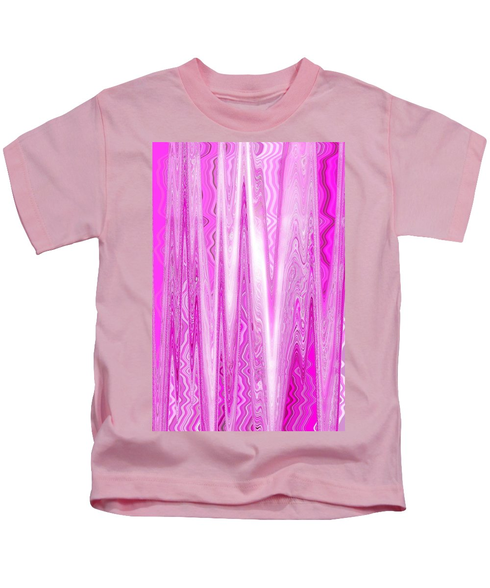 Moveonart Digital Gallery San Francisco California Lower Nob Hill Jacob Kane Kanduch Kids T-Shirt featuring the digital art Moveonart Pink Dream Frequency by Jacob Kanduch