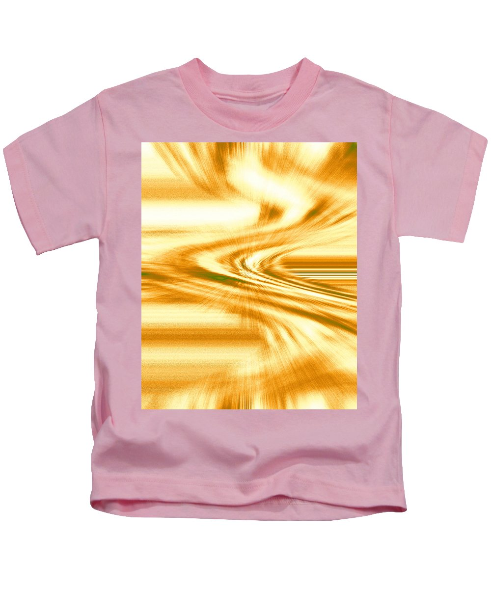 Moveonart! Digital Gallery Kids T-Shirt featuring the digital art Moveonart They Say The Streets Are Paved With Gold by Jacob Kanduch