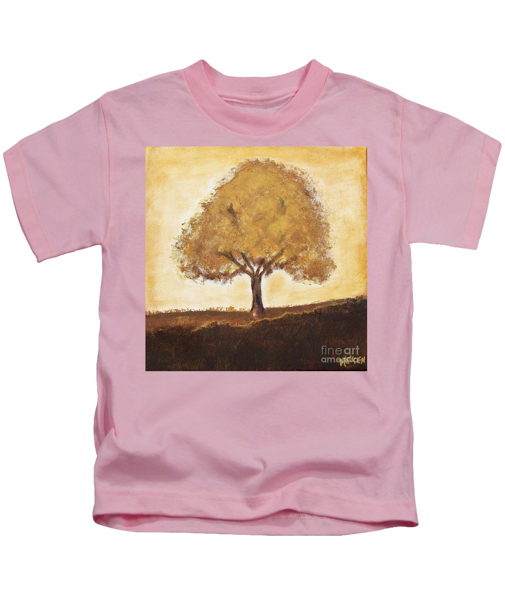 Painting Kids T-Shirt featuring the painting My Tree by Marsha Heiken