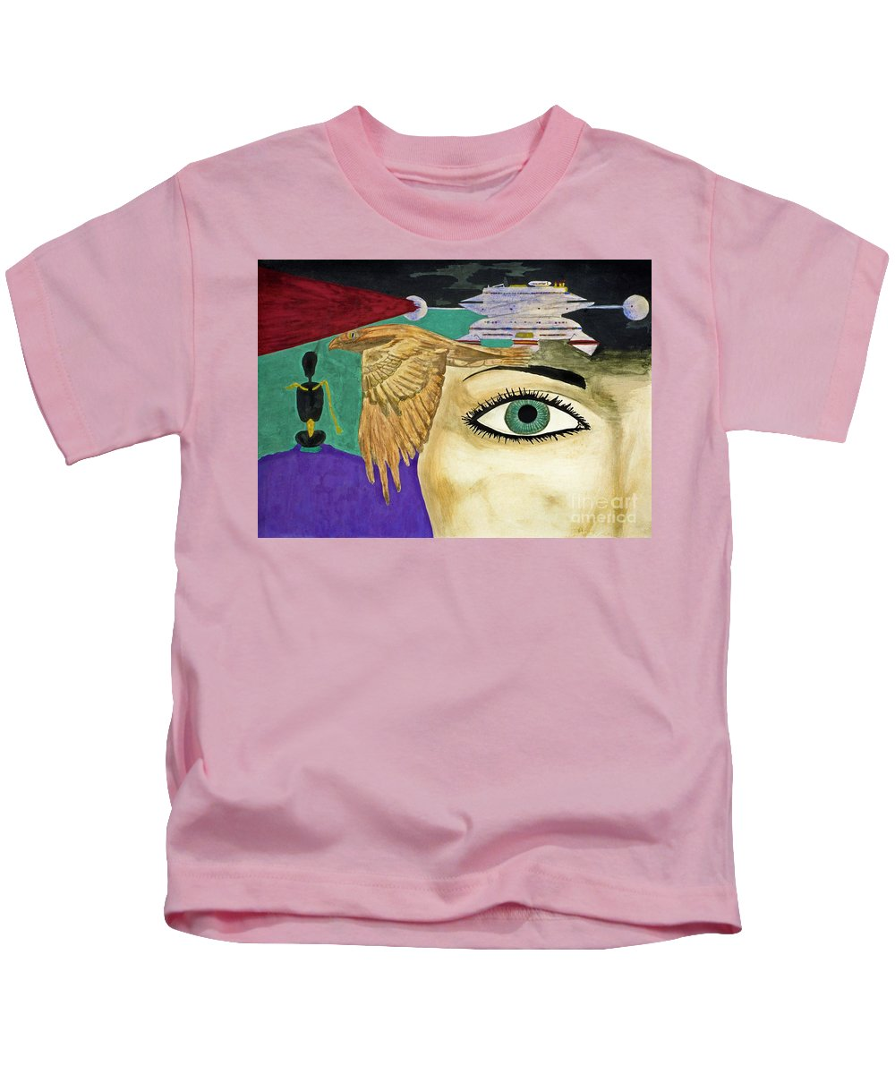 Sci Fi Kids T-Shirt featuring the painting Nebular by Bruce Stanfield